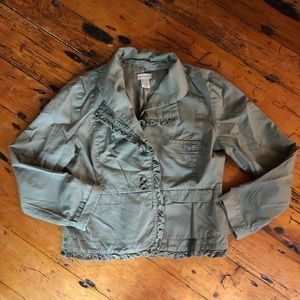 Anthropologie Elevenses Army Green Jacket - 12